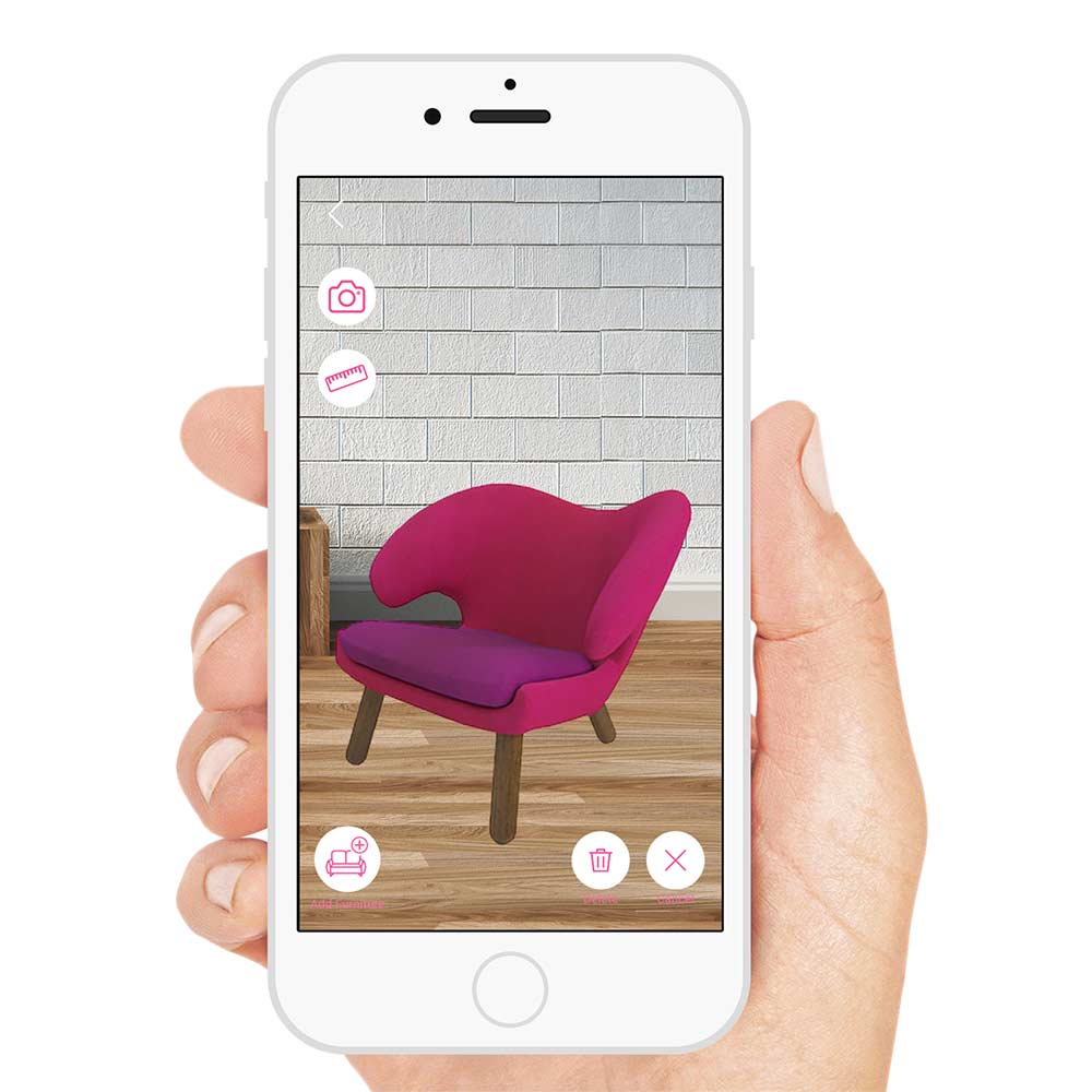 Preview furniture in your home with augmented reality